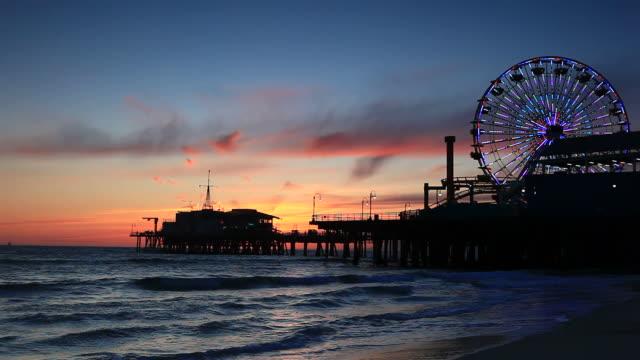 Ferris Wheel in Santa Monica video