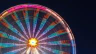 Ferris wheel turning during the night video