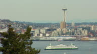 Ferry and Space Needle video