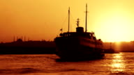 Ferry at Sunset video