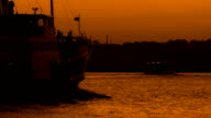 Ferry at twilight video