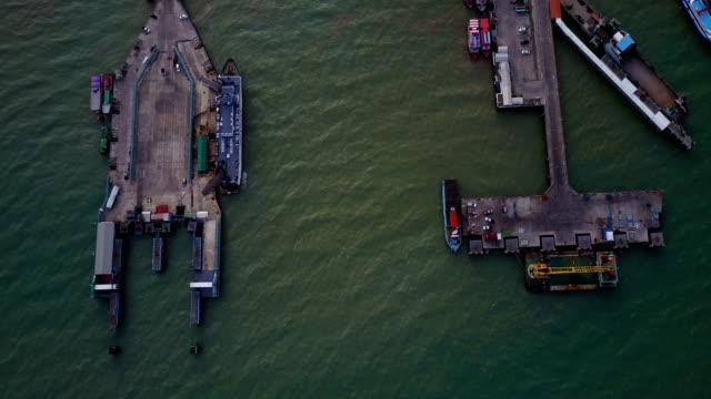 Ferry boat pier samui Thailand video
