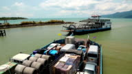 Ferry boat ready to sail to the Koh-Chang island, Gulf of Siam, Thailand video