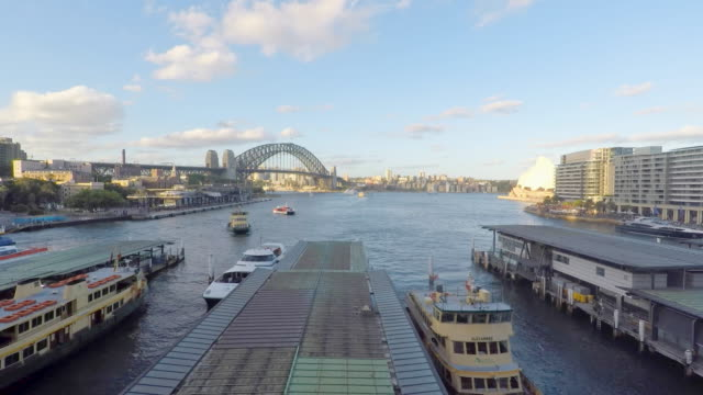Ferry Boats at Circular Quay on Sydney Harbour Australia video