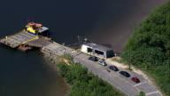 Ferry Connecting Ilha De Cananeia  - Aerial View - São Paulo, Brazil video
