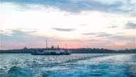 Ferry Floating At Bosphorus Istanbul video