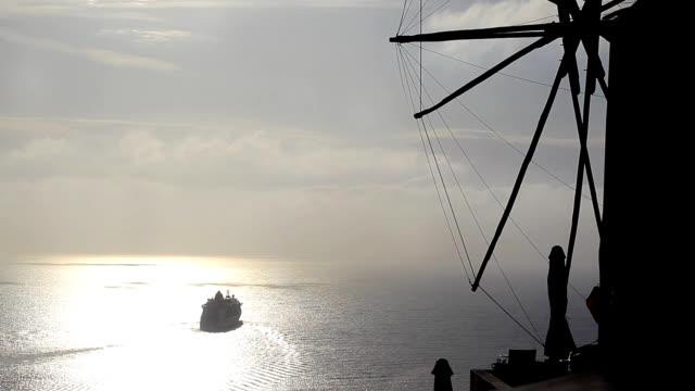 Ferry in Santorini video