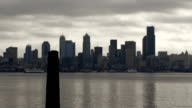 Ferry in Seattle time lapse video