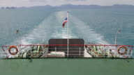 Ferry leaving from Koh Phangan. video