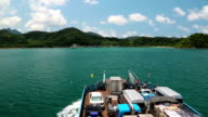 Ferry sails to the Koh-Chang island, Gulf of Siam in Thailand video