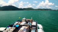 Ferry sails to the Koh-Chang island, Thailand video