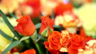Festive flowers roses with carnations video