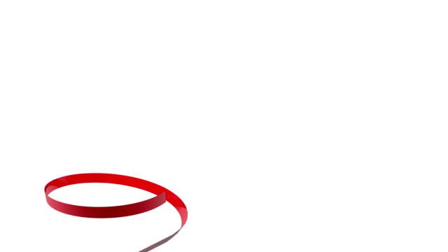 Festive red ribbon video