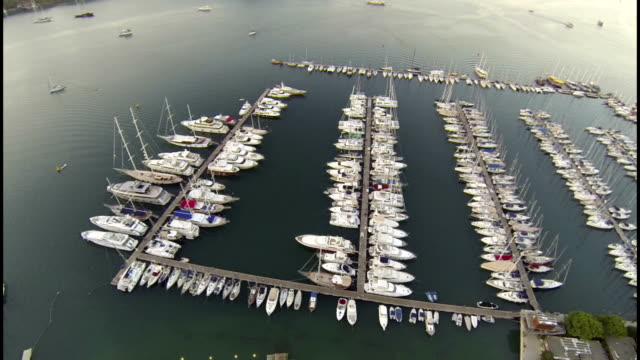 Fethiye Yacht Marina Aerial View video