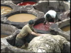 Fez Leather Dye Workers, Morocco video