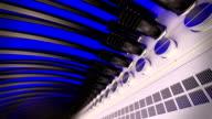 Fiber optic console close-up video
