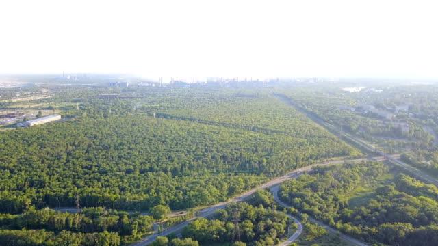 Field Burning Aerial High View Of Land In Smoke Horizon video