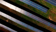 A field full of solar cell batteries video