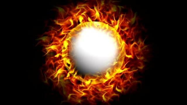 Fiery Bingo Ball, with Alpha Channel video