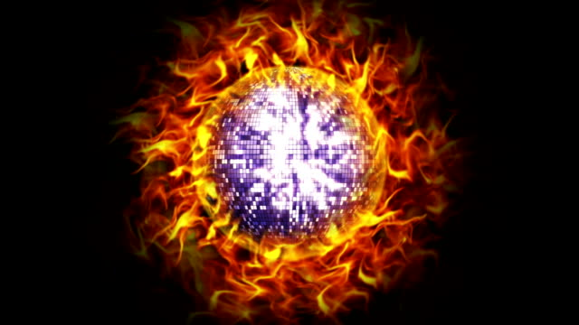 Fiery Disco Ball, with Alpha Channel video