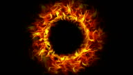 Fiery Empty Ring, with Alpha Channel video