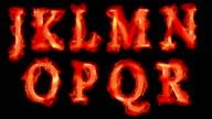 Fiery fonts video