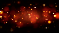 Fiery red embers background loopable video