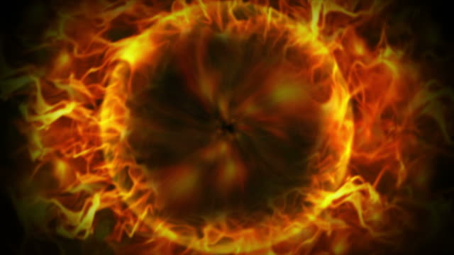 Fiery Ring and Flames Background, Loop video