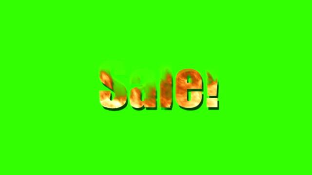 Fiery Sale Sign video