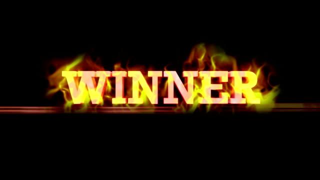 Fiery WINNER Text, Loop video