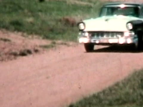 Fifties car driving-From 1950's film video