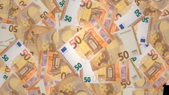Fifty euros banknotes, cash money video