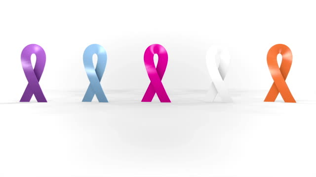 Fight against cancer symbol. video