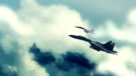 Fighter Jets Flying In The Clouds video