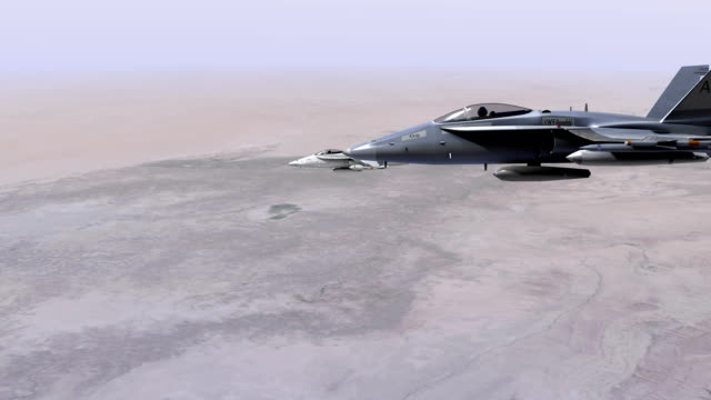 F18 Fighter Jets on Patrol video