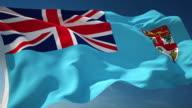 4K Fiji Flag - Loopable video