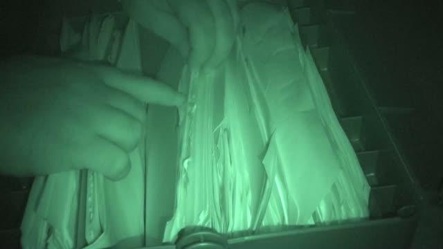 File Cabinet, Burglary, Nightshot video