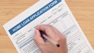 Filling a home loan application form video