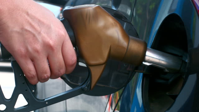 Filling car with gas , close up shot video