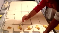 Filling Dough sheets video