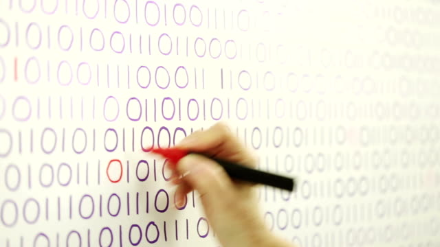 Filling in missing binary code data video