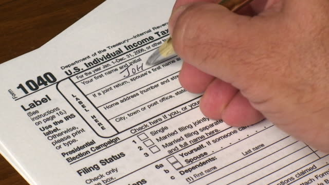 Filling Out Form 1040 video