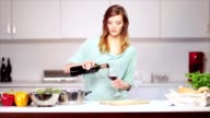 Filling two wineglasses video