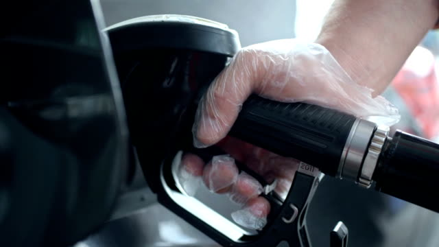 HD: Filling Up A Gas Tank video