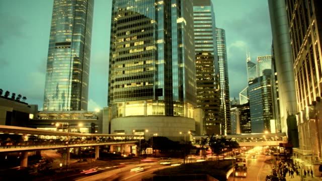 Film Look Timelapse Contemporary City Skyscraper video