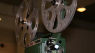 Film Projector Projecting 16mm Movie video
