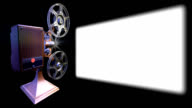 Film projector show move on screen video
