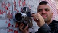 Film school students set up shot video