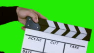 Film Slate with Clipping Path (clapper) video