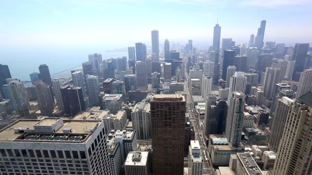 Film Tilt: Aerial Chicago Skyline Cityscape USA video